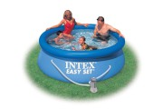 Kit Piscina Intex Easy set 244x76+depuradora